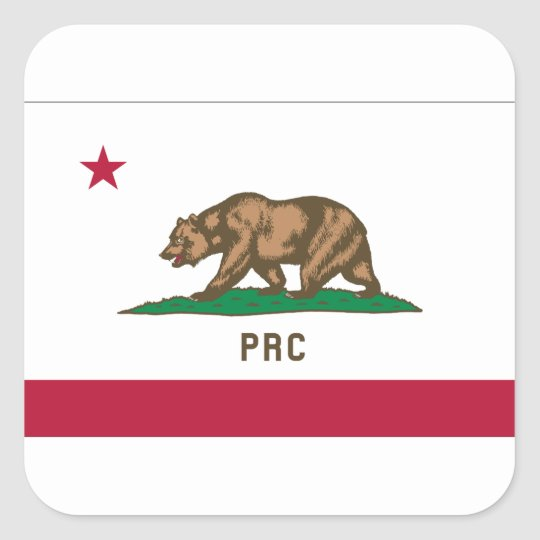 The People's Republic of California Square Sticker