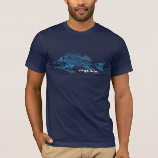 The perch, fish skeleton tattoo-style image T-Shirt