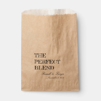 The Perfect Blend Coffee Favors, Trail Mix Bag