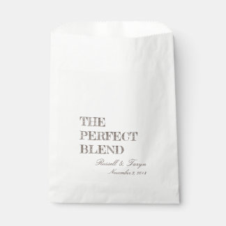 The Perfect Blend Coffee Favors, Trail Mix Brown Favour Bag
