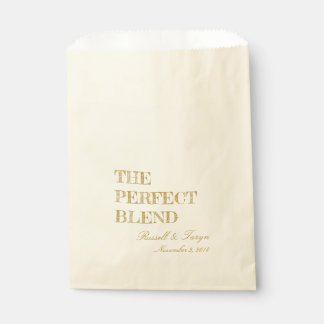 The Perfect Blend Coffee Favors, Trail Mix Gold Favour Bag