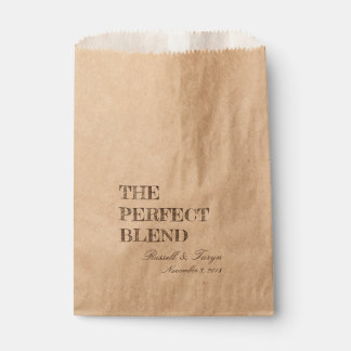 The Perfect Blend Coffee Favours, Trail Mix Brown Favour Bag