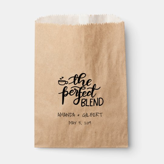 The Perfect Blend Rustic Kraft Paper Wedding Favour Bag