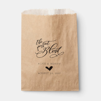 The Perfect Blend Wedding Favor Bags