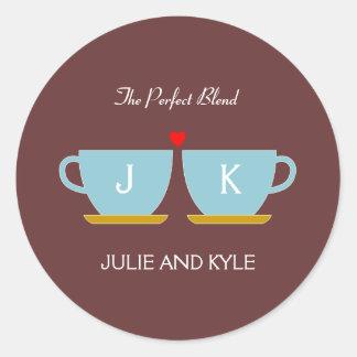 The Perfect Blend Wedding Favor Sticker/ Envelope Classic Round Sticker