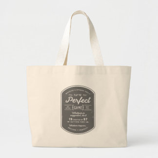 The Perfect Game Large Canvas Tote