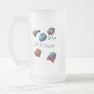 The perfect Mug, Let it snow Frosted Glass Beer Mug