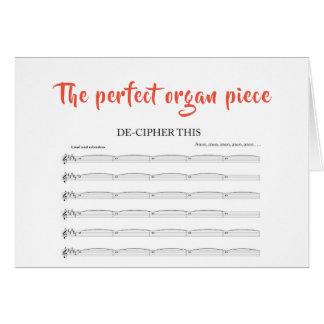 The perfect organ piece card
