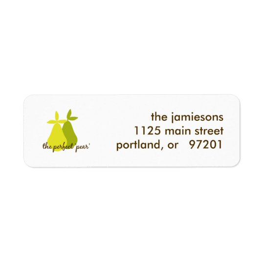 The Perfect Pear Return Address Label