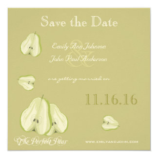 The Perfect Pear Save the Date Card