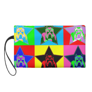 The Perfect Pit Bull Graphic Hand Bag - Colorful Wristlets