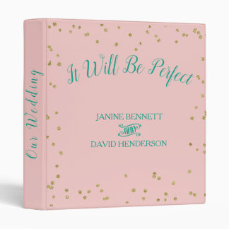 The Perfect Rose Quartz and Arcadia  Planner 3 Ring Binder