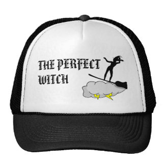 The Perfect Witch Surfs Hard Trucker Hat