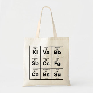 The Periodic Table of Desserts Tote Bag