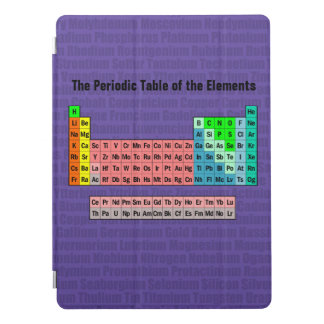 The Periodic Table of the Elements (2016 Revision) iPad Pro Cover