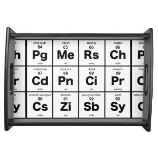 The Periodic Table of Wine Service Tray