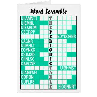 The Periodic Table Word Scramble Card