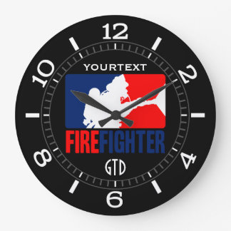 The Personalized Firefighter Headliner Dial on a Clocks