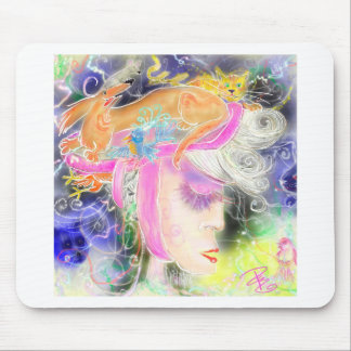 The pet lady mouse pad