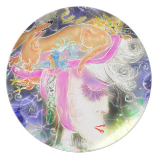 The pet lady party plates