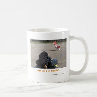 The Pet Monkey Crashing Dads RC Plane Classic White Coffee Mug