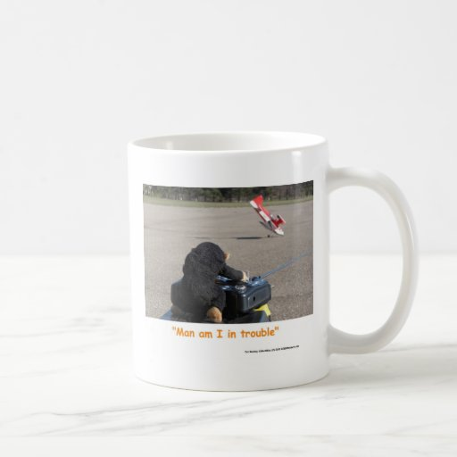 The Pet Monkey Crashing Dads RC Plane Coffee Mug