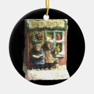 "THE PET SHOP CHRISTMAS ORNAMENT"" CERAMIC ORNAMENT"