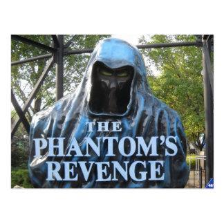 The Phantom's Revenge Roller Coaster Entrance Postcard