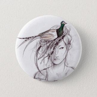 The Pheasant 2 Inch Round Button
