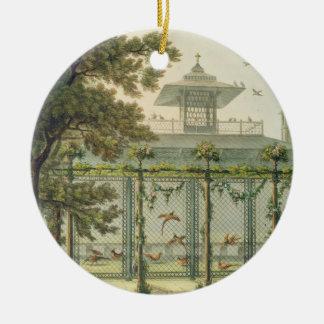 The Pheasantry, engraved by Joseph Constantine Sta Round Ceramic Ornament