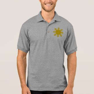 the Philippines   cropped sun, Philippines Polo Shirt