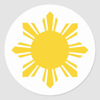 the Philippines   cropped sun, Philippines Round Sticker
