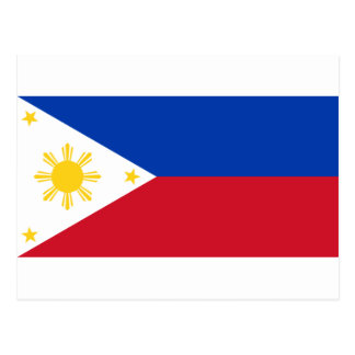 The Philippines (Pilipinas) flag Postcard