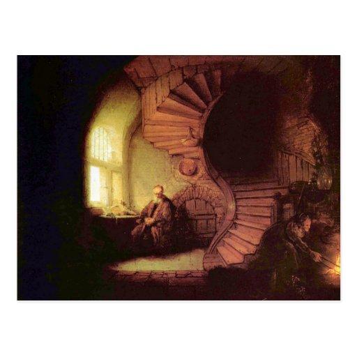 The philosopher by Rembrandt Harmenszoon van Rijn Postcards