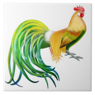 The Phoenix Rooster Tile