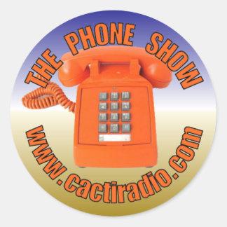 The Phone Show cactiradio.com Round Sticker