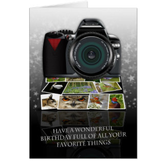 The photography birthday greeting card
