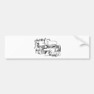 The Pianist - Piano Theme Bumper Sticker