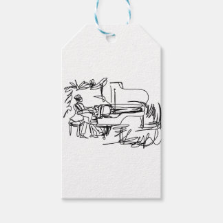 The Pianist - Piano Theme Gift Tags
