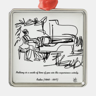 The Pianist - Piano Theme Metal Ornament