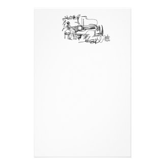The Pianist - Piano Theme Stationery