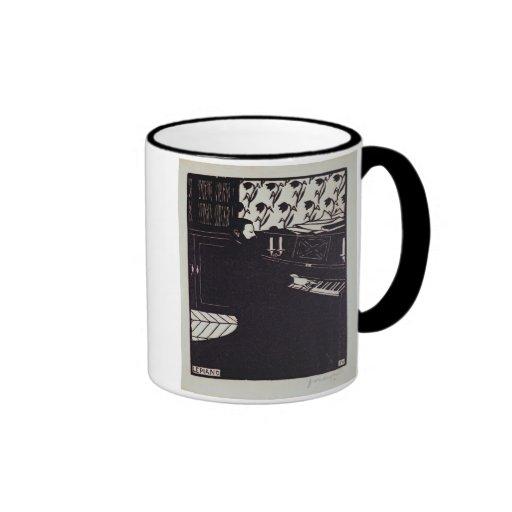 The Piano, 1914 (woodcut) Coffee Mug