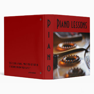 The Piano lesson 3 Ring Binders