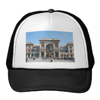 The Piazza Duomo square in Milan Italy Trucker Hats