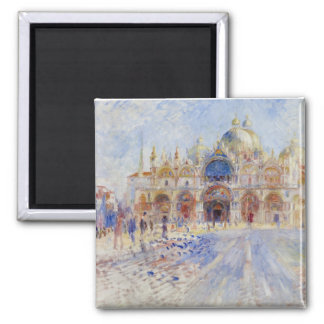 The Piazza San Marco, Venice, 1881 (oil on canvas) Magnets