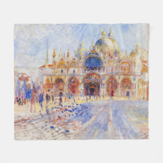 The Piazza San Marco, Venice by Renoir Fleece Blanket