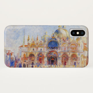 The Piazza San Marco, Venice by Renoir iPhone X Case