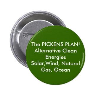 The PICKENS PLAN! Alternative Clean EnergiesSol... 2 Inch Round Button