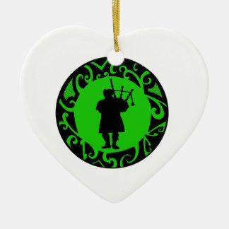 The Pied Piper Ceramic Heart Ornament
