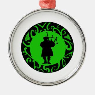 The Pied Piper Silver-Colored Round Ornament
